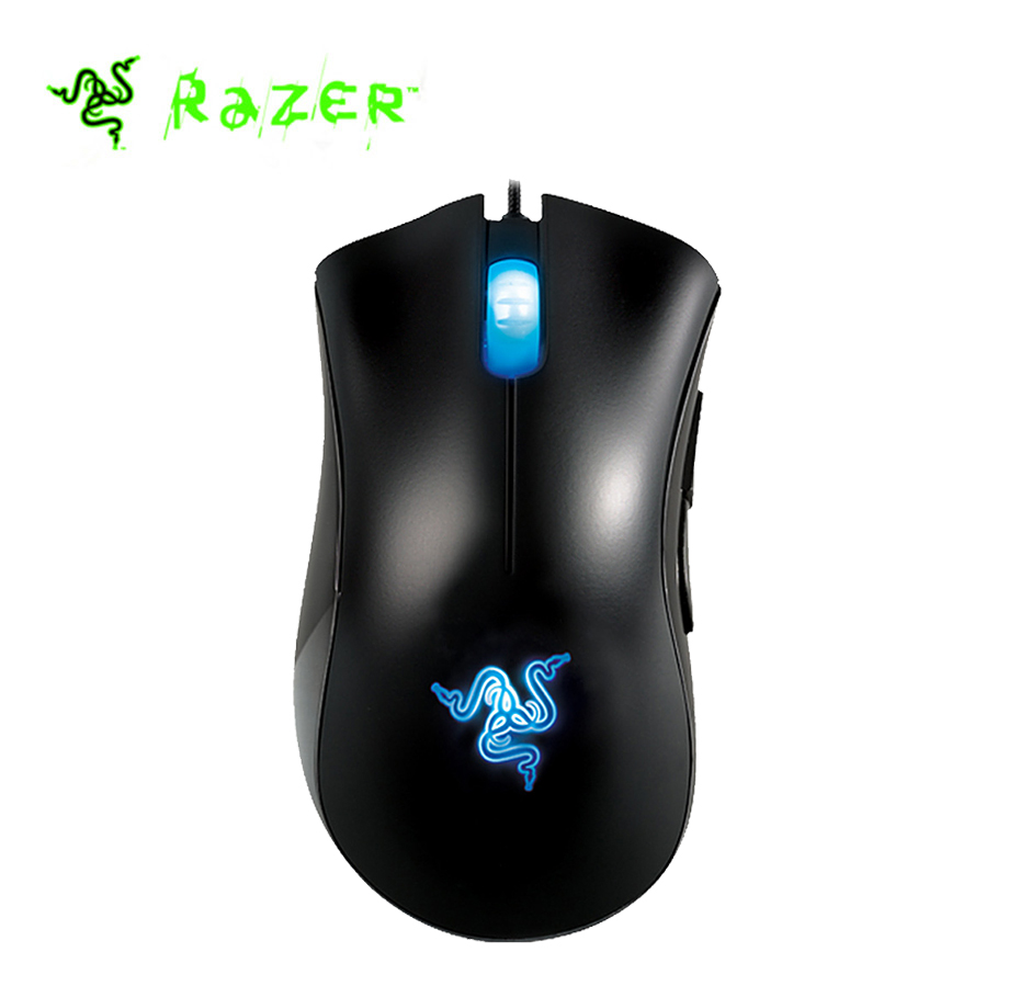 Razer DeathAdder Wired Gaming Mouse Left Hand Edition Ergonomic 3.5G Optical Sensor 3500DPI Multilingual Gaming Mice Mouse razer deathadder elite overwatch edition 16000dpi ergonomic wired gaming mouse chroma enabled rgb esports gaming mouse