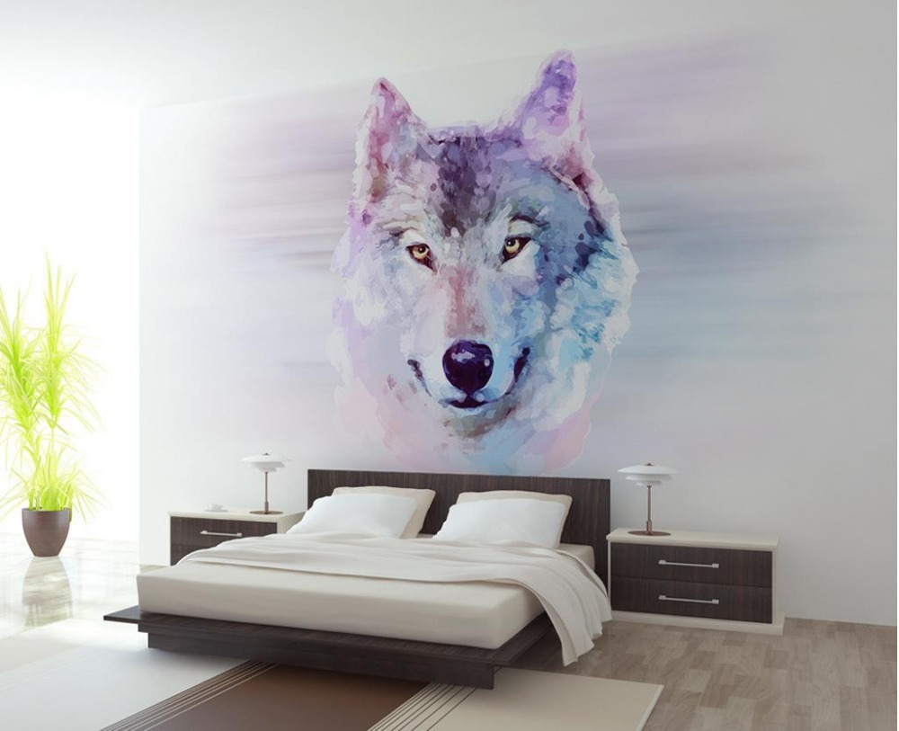 Custom photo wallpaper Wolf Large 3D Wallpaper background wallpaper the living room TV backdrop 3d mural wallpaper modern simple romantic snow large mural wallpaper for living room bedroom wallpaper painting tv backdrop 3d wallpaper