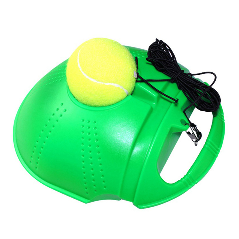 Tennis Training Tool Exercise Tennis Ball Self Study Rebound Ball With Tennis Trainer Skirting Sparring Device