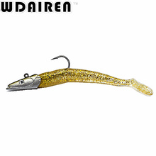 1pcs 11cm 22g Grey Soft Lure Wobblers Artificial Bait Silicone Fishing Lures Sea Bass Carp Fishing Lead Spoon Jig Tackle