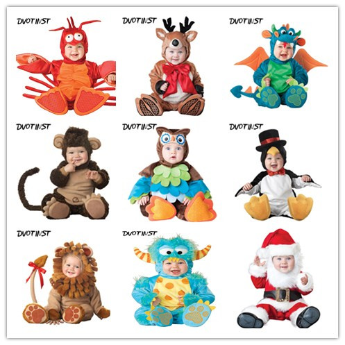 Baby Animals Halloween Cosplay Bodysuit+Hat Set Photography Props Fotografia Plush Costume Outfit Studio Shoot Playsuit Clothing