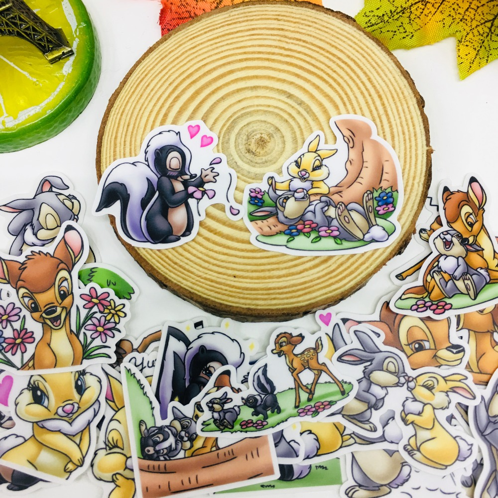 Image 2 - 25 Pcs/lot cartoon animals  Scrapbooking Stickers Car Case Waterproof Laptop Bicycle kids toys Backpack waterproof Sticker-in Stickers from Toys & Hobbies
