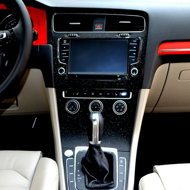 Interior Central Control Panel Carbon Fiber Protection Stickers And Decals Car styling For VW Volkswagen Golf 7 MK7 Accessories 2