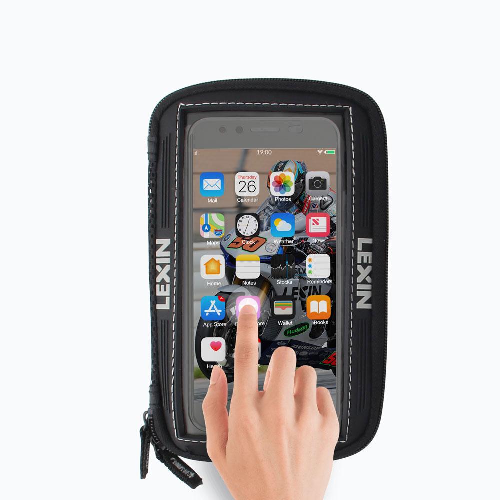 """ยี่ห้อ Lexin 5.5 """"สีดำรถจักรยานยนต์น้ำมันเชื้อเพลิงถังกระเป๋าแม่เหล็กอานกระเป๋าสำหรับ Iphone6 6 บวกซัมซุง Glaxy S3 S4 Note2 3"""