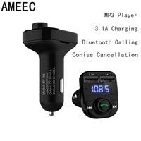 AMEEC Universale 3.1A Doppia Porta USB Caricatore Del Telefono Musica Mp3 Per Auto Bluetooth Per Iphone Android Cellulare Car-Charger Adapter Kit