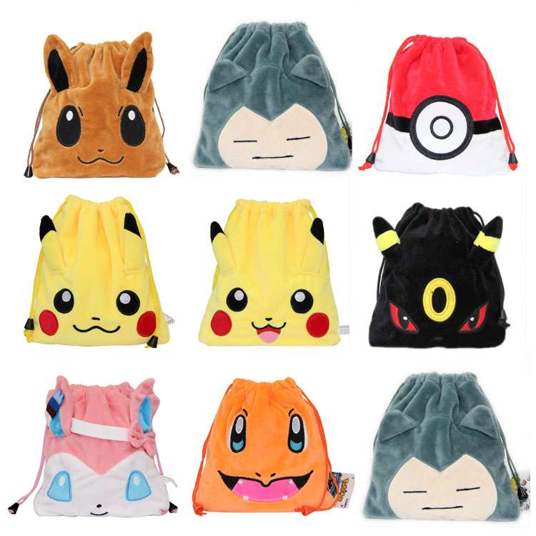 Intellective Game Pikachu Original Eevee Plush Doll Beam Pocket Zlatan Ibrahimovic Zero Purse Stationery Bag To Receive Bag A Wide Selection Of Colours And Designs Luggage & Bags