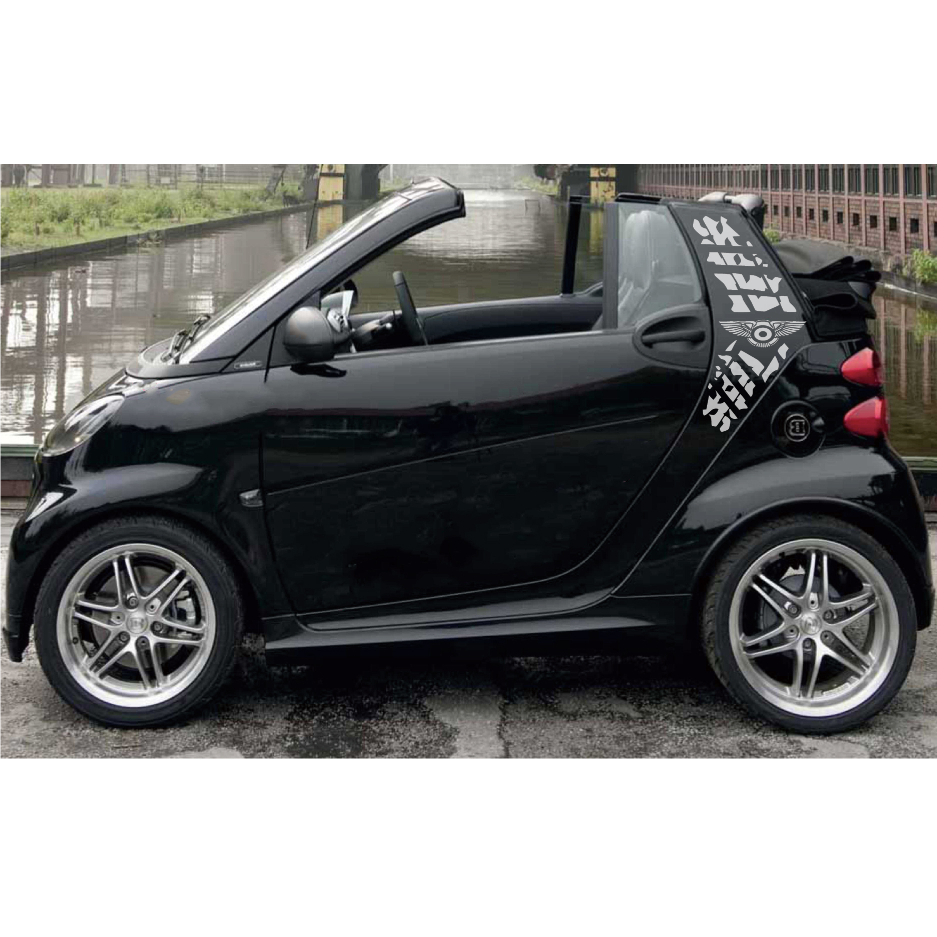 customize for smart mini 2 doors sticker car accessories decals 2pc cool tire print styling graphic vinyls scratch car stickers in Car Stickers from Automobiles Motorcycles