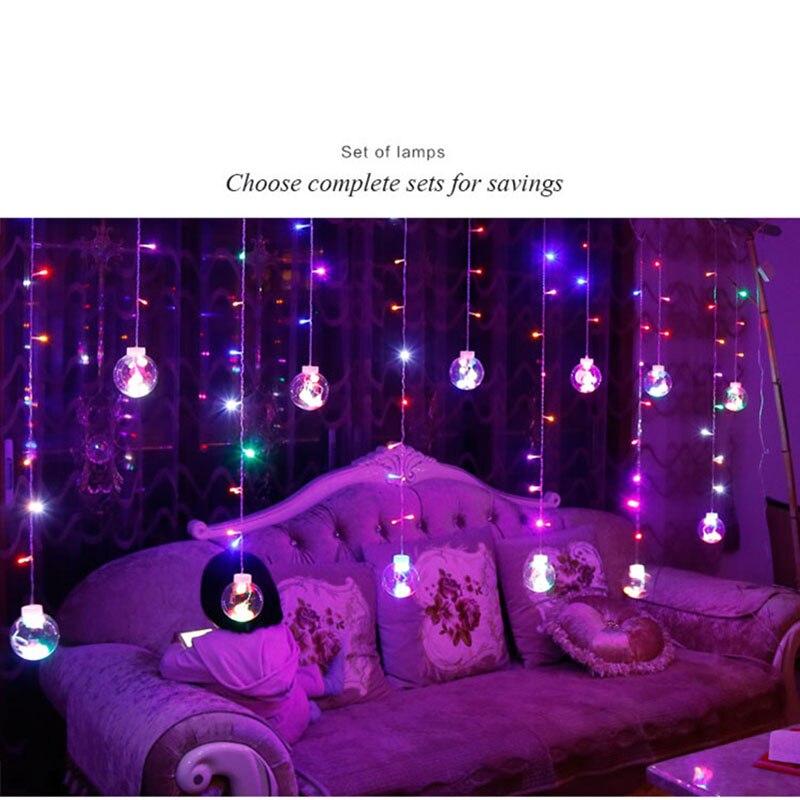 Led gardin icicle fairy ball streng ønske lys party ferie rom hage - Ferie belysning - Bilde 4