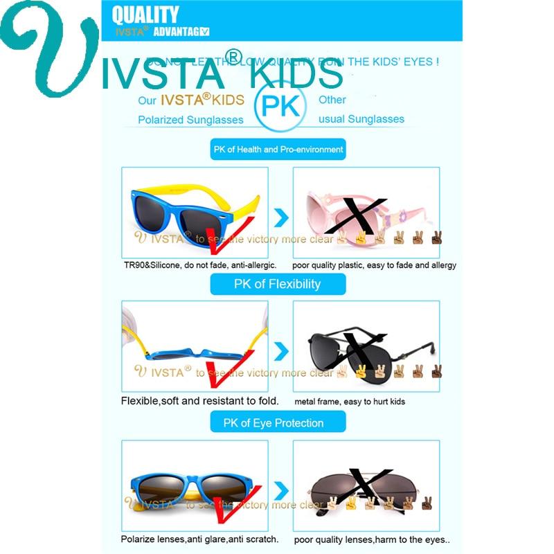 IVSTA Polarisierte Kinder Sonnenbrille Jungen Brille Kinder - Bekleidungszubehör - Foto 5