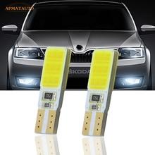 2x T10 W5W для SAMSUNG COB Chips светодиодный габаритный фонарь габаритных огней для Skoda Octavia Superb Fabia