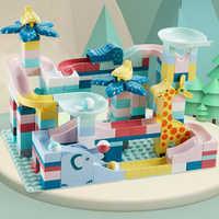 166 pièces marbre course course labyrinthe balle Jungle piste blocs de construction amusant balle coulissante Compatible briques à monter soi même jouets d'anniversaire pour les enfants