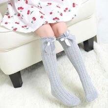 Summer new design girls children over Knee High Socks Breathable lovely Bow tie Thin section socks for fashion baby girls child