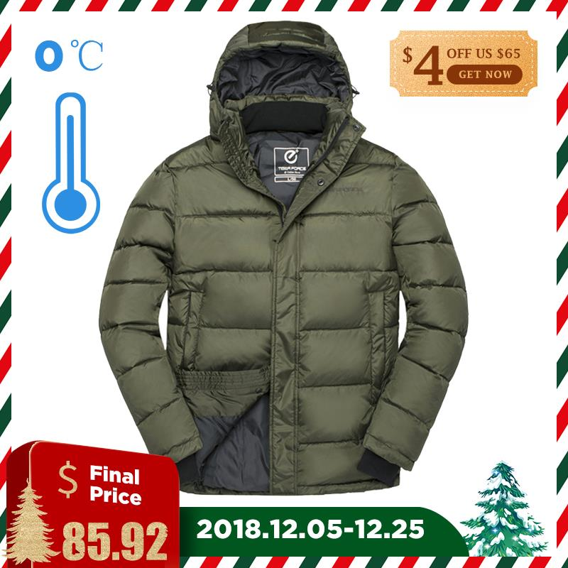 TIGER FORCE 2018 Men Winter Parka Thick Warm Jacket Windproof Fashion Coats Casual Thickening Hooded Jackets