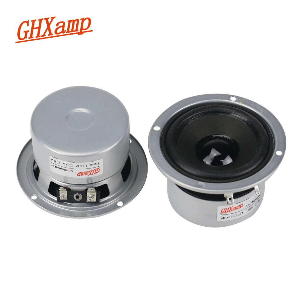 GHXAMP 4ohm 3 Inch Full Range Speaker Unit Bluetooth speaker DIY 60W HIFI For 2 0