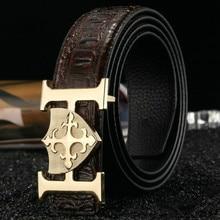 Width 3.7cm 2016 Designer Belts Men High Quality Luxury Brand Genuine Leather Belts For Men Second Layer Cow Belt 5 Colors