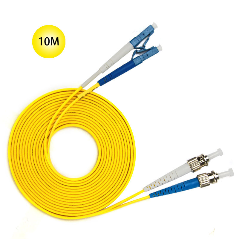 ST to LC Single-mode optical fiber patch cord 10M Jumper Cable 9 Microns UPC Polish Yellow OFNR Jacket Fiber Cable Free Shipped