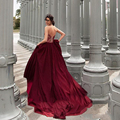 Vintage Lace Evening Dresses Burgundy Color Evening Gowns Sweetheart Off The Shoulder Formal Dress To Party 2016 Lace Up