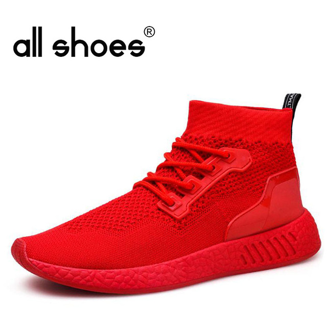 c39a321c25e 2018 New Men HIGH top Lightweight walking shoes Running Shoes for Men SOCK  Sneakers l breathable Sports Jogging shoes HA-55