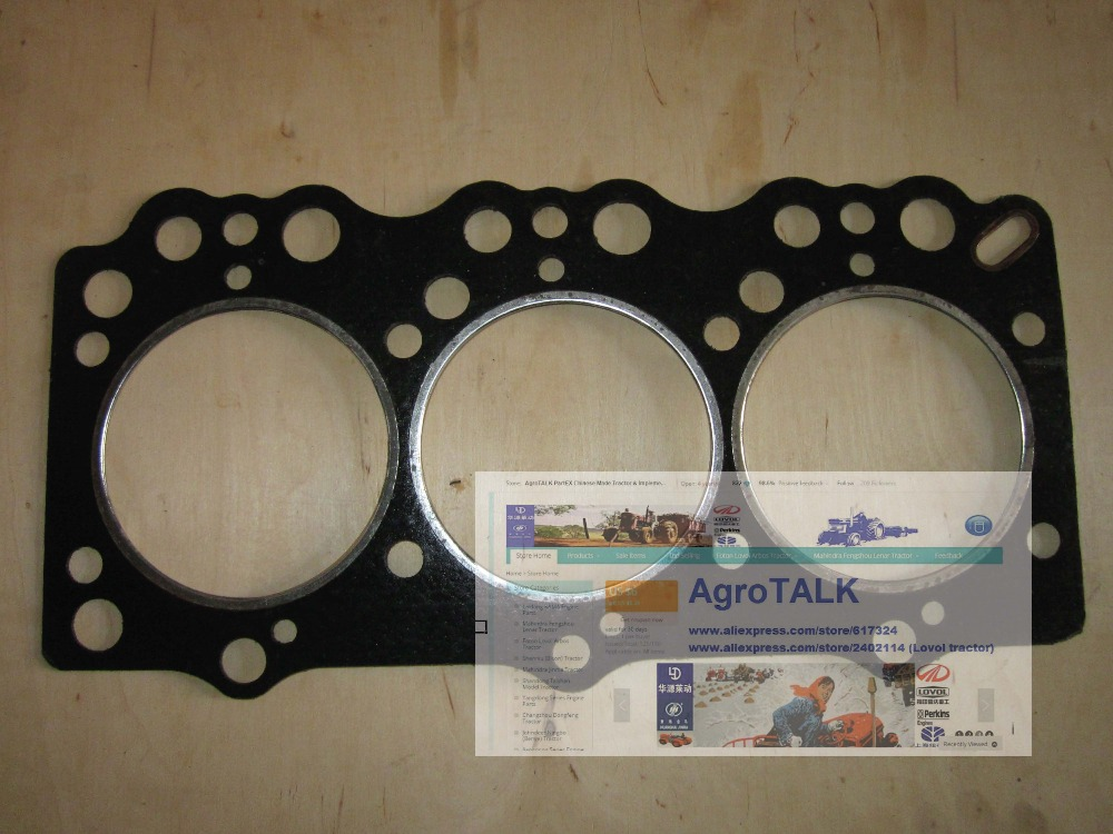 Taishan KAMA KM454 tractor with engine FD395T, the set of gaskets including the cylinder head gasket, part number: laidong km4l23bt for tractor like luzhong series set of piston groups with gaskets kit including the cylinder head gasket