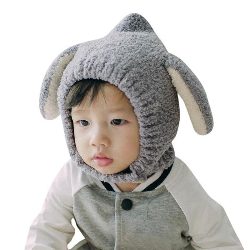 Baby Beanie For Boys Girls Cap knit cap girls Cotton Ear Hat Warm baby hats Children Hats newborn photography props 15