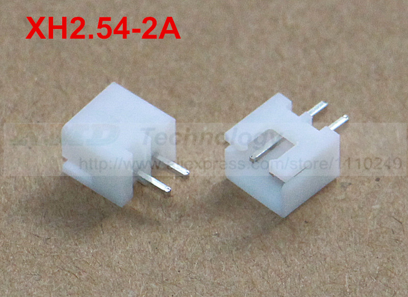 цена на 50pcs/lot XH2.54-2A XH2.54 male connector PIN header 2.54 mm 2pin free shipping
