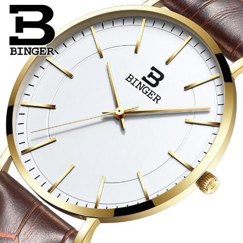 Switzerland Binger Man Watch Top Brand Luxury Casual Nylon Strap Watches Men Chronograph Quartz Wristwatch relogio masculino