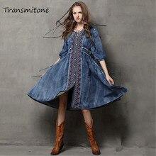 bawełniana rękawa sukienka sznurkiem