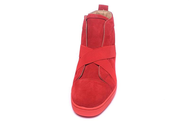 De Sneaker Beertola Marque En Chaussure Nubuck Top Cuir Unisexe Nouveau Luxe Bande Hauts Chaussures Bas Couple Troupeau Picture As Élastique Rouge Nw0m8n