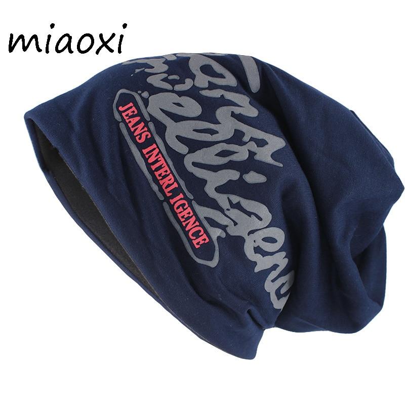 miaoxi New Arrival Fashion Adult Unisex Letter Hat Caps Women Winter Warm   Beanies     Skullies   Hip Hop Cotton Male Female Gorros