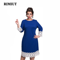 d3dae17efe ... suelto patchwork L 6xl Vestidos. 2017 Women Fashion Sexy Big Plus Size  Casual Lace Long Sleeve Solid Fat MM Spring Autumn