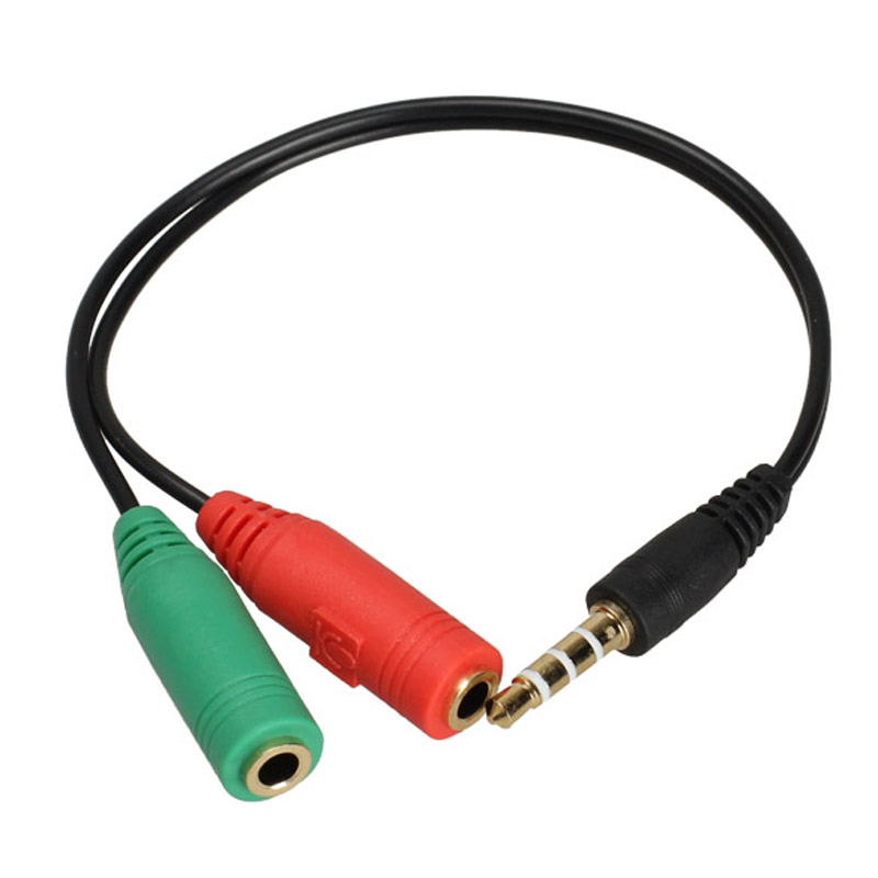 Microphone Splitter Cables : New mm stereo headphone microphone audio y splitter