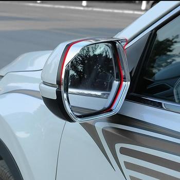 ABS cromado para Honda CRV CR-V accesorios 2017 espejo retrovisor de coche bloque lluvia ceja marco cubierta de panel 2 piezas