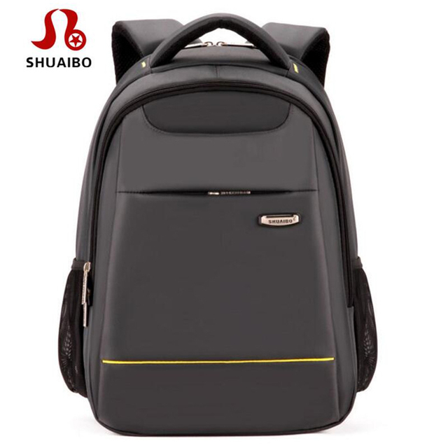 f4b7897f26b5 SHUAIBO Hot Sale Business Men s Backpack Large Capacity Travel Rucksack 16  Inches Casual Computer Bagpack Brand School Bags A294