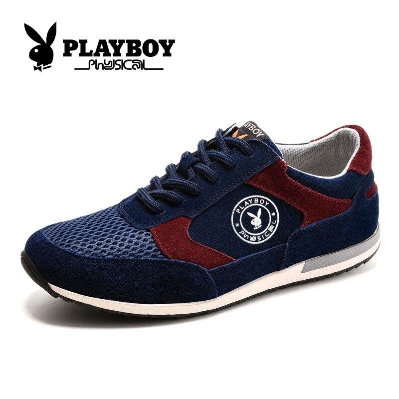 Playboy Hommes En Cx39024 Chaussures Blue Tissu Résistant Loisirs marron Nouveau L'usure Cuir automne Deep À Marcher up De Dentelle Véritable Printemps Net MULqpVjSzG