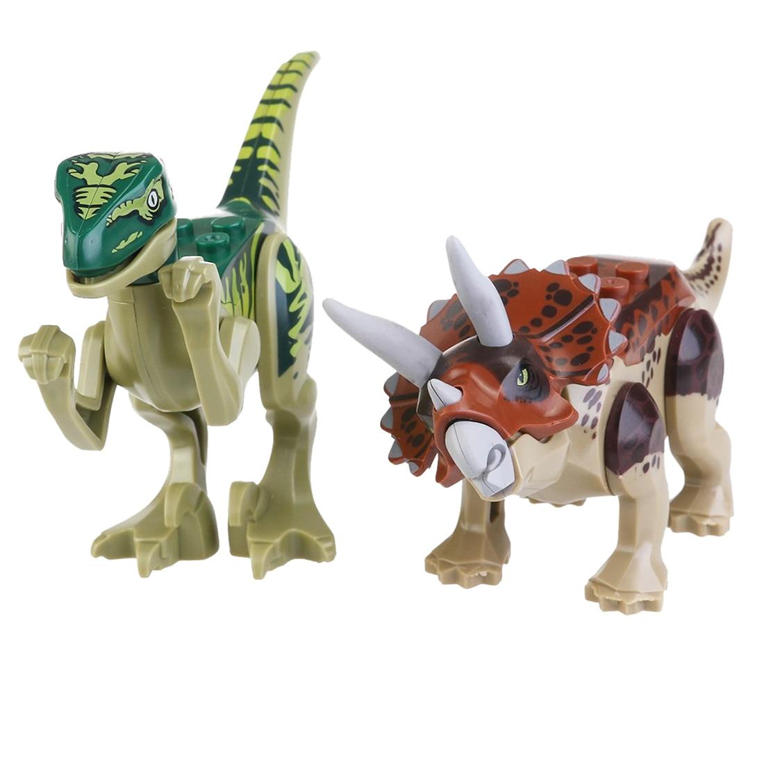 Aliexpresscom Beli Blok Bangunan Mainan Jurassic Park Dinosaur Figure Dinosaurus Dino World Dunia 8 Pcs Dari Handal Pemasok Di Love City