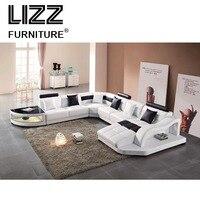 Удобные простые u образные современные Оригинальные кожаный диван для отдыха Лидер продаж краткое универсальное кресло мебель для дома с б