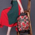 XIYUAN señoras de la MARCA de Hombro Para Las Mujeres Bordado de La Manera de cuero Retro de La Mujer Del Mensajero Crossbody bolsos del estilo Chino