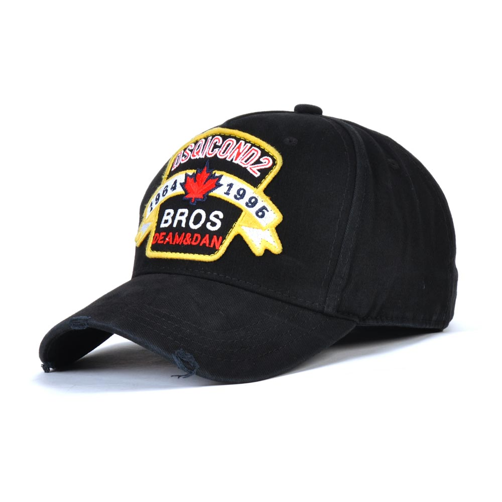 DSQICOND2 Baseball-Caps Dsq-Bone Women Embroidery Brand Snapback Summer Cotton for Solid