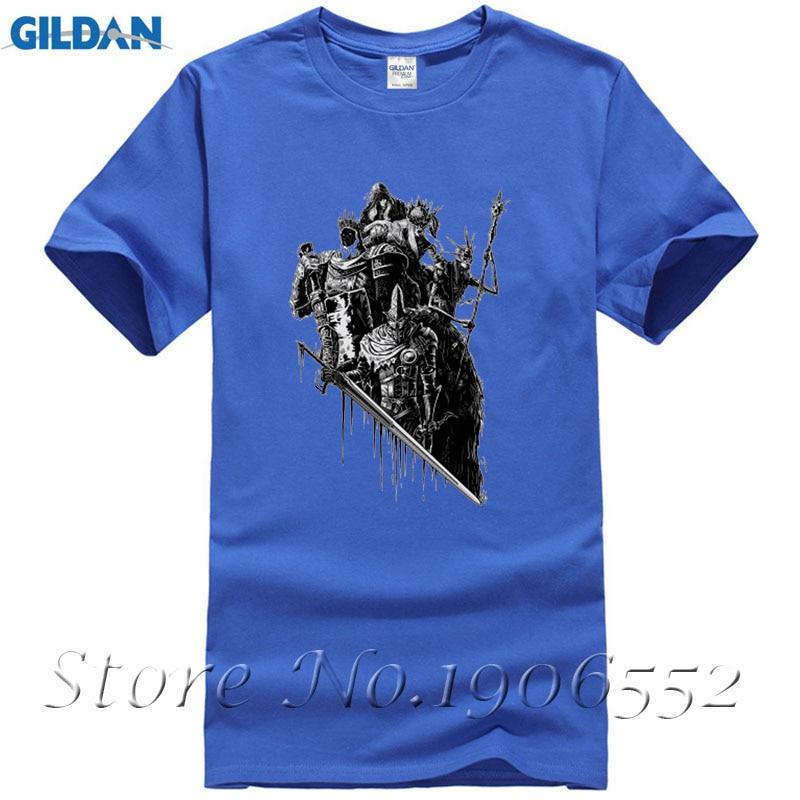 2017 Hot Summer Clothing Skull Warrior Print T Shirt Men Lords of Cinder, Lords of Ash Dark Souls Design T-Shirt Cool Tops Tees
