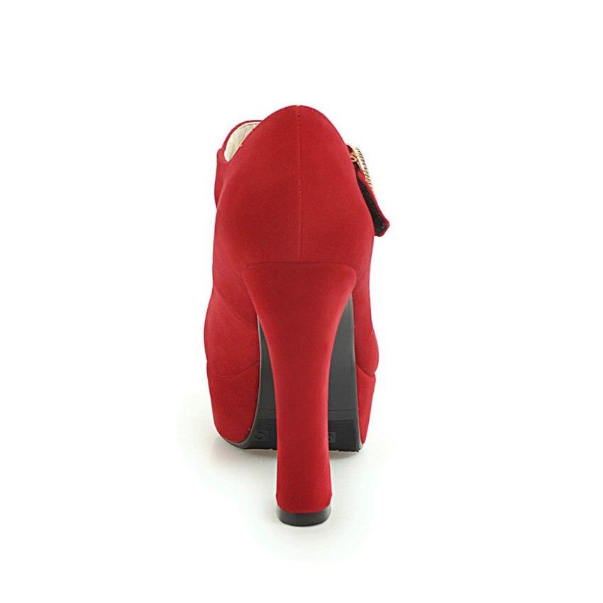 Pu 43 Bout Haute 2019 Pour 34 Talons Taille Profonds Esveva rouge noir Peu Carré Western Pompes Pointu apricot Sangle Beige Femmes Boucle Chaussures D'été Style qvRPIwt