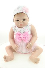 New 58CM Full Body Silicone Reborn Babies GirlDolls Rooted Hair Toys Baby Real Doll Reborn For Kid Girls Gift Magnetic Bonecas