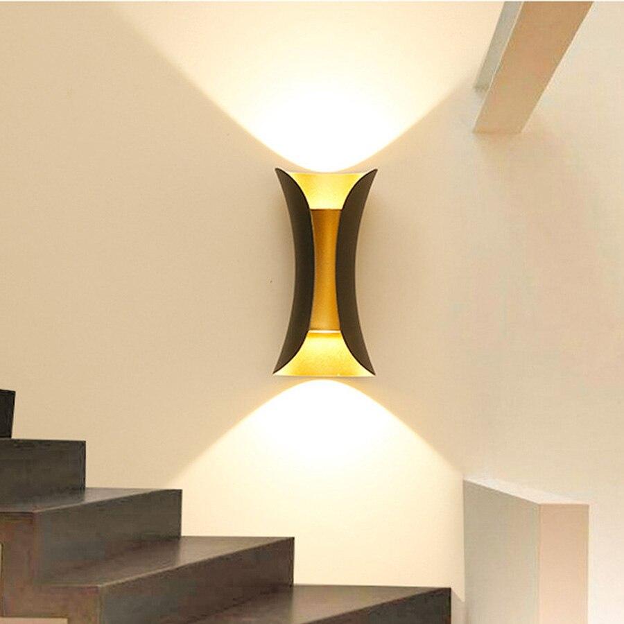 Thrisdar 10 Вт вверх вниз открытый водостойкий светодиодный настенный светильник креативная Талия Форма сад крыльцо свет отель балкон вилла настенный светильник