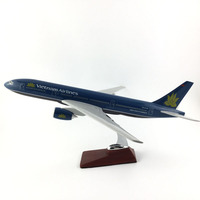 AIR PASSENGER PLANE 777VIETNAM AIRLINES AIRCRAFT MODEL MODEL PLANE SIMULATION 45CM ALLOY CHRISTMAS TOYS GIFTS