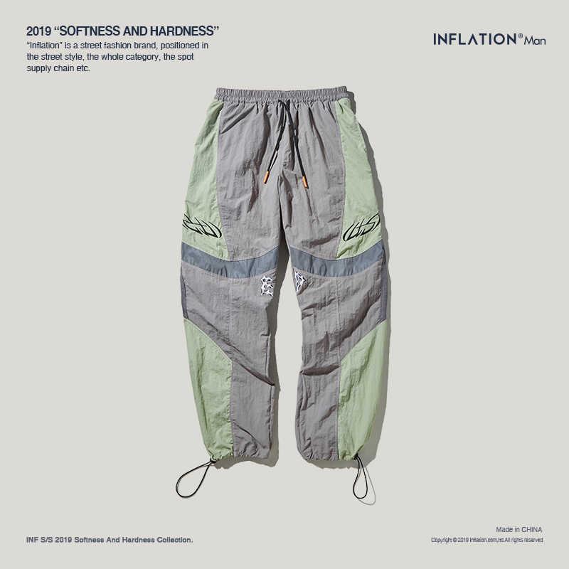 Новинка 2019 года; сезон осень; уличная одежда в стиле хип-хоп; брюки карго для мужчин; цвет строчки; модные брюки для мужчин; Pantalones Hombre; 94355SD