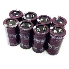 5 pçs/lote novo capacitor eletrolítico de alumínio original 450v 1000uf 35*60mm 1000uf 450v kmh ic