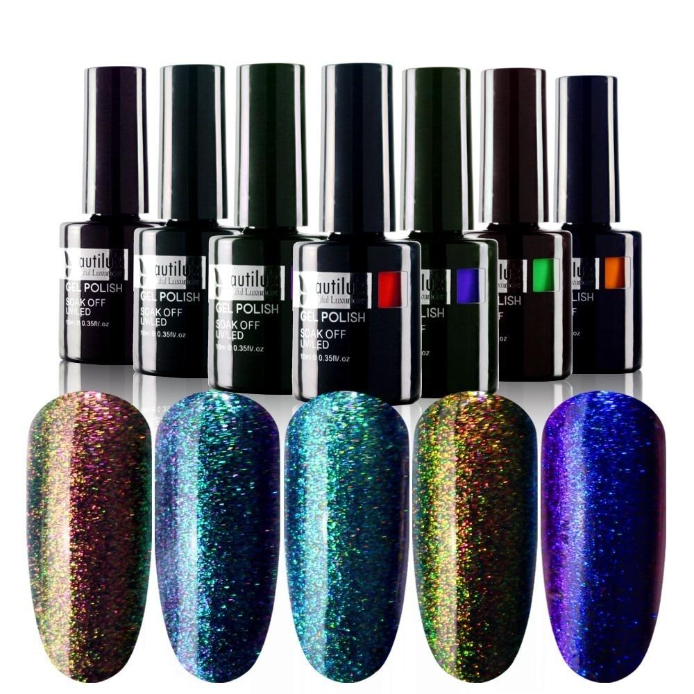 1 unid Chameleon Color Cambio de esmalte de uñas Gel Nail Art barniz - Arte de uñas