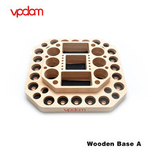 Original Vpdam Electronic Cigarette Wooden Base Vape Stand E Sigarettte Atomizer Stand for E Cig Tank Kit Accessories Showing(China)