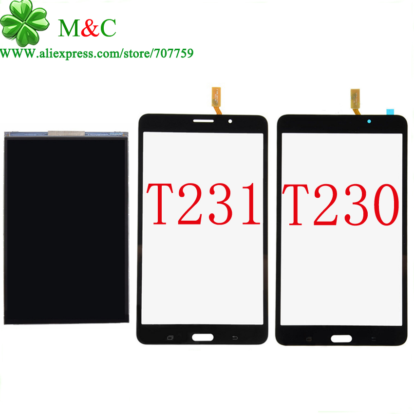 KUJOOY T230 T231 LCD Touch Panel For Samsung Galaxy Tab 4 7.0 T230 T231 LCD Display Touch Screen Digitizer Panel With Tracking