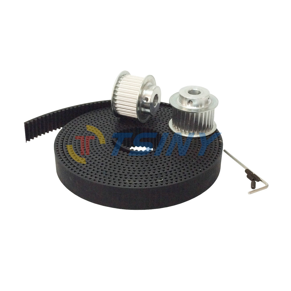 3 Meters HTD 3M Open Ended PU Timing Belt +3M Pulley Wheel Bore 8mm 12mm Teeth Number 38 Fit for Timing Belt Width 15mm htd 3m timing belt 10 meters open ended rubber belt