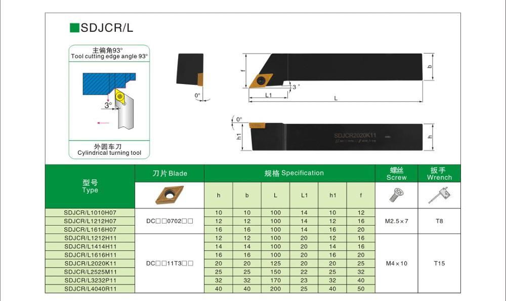 OYYU 20mm Portautensili per tornio da tornio SCLCR Barra di alesatura - Macchine utensili e accessori - Fotografia 6